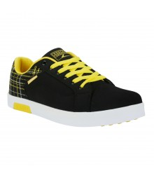 Vostro British3104 Black Yellow Men Casual Shoes VSS0131
